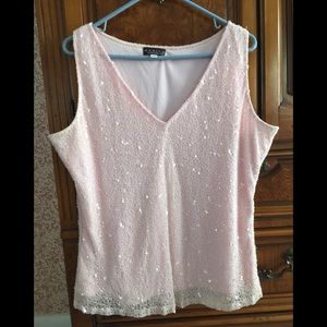 Gorgeous beaded top with side zipper